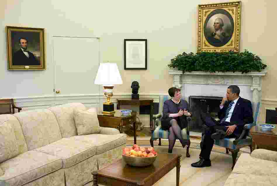 President Barack Obama meets with Kagan on April 30 in the Oval Office in Washington, DC. If confirmed, Kagan would become the 112th Justice of the Supreme Court.