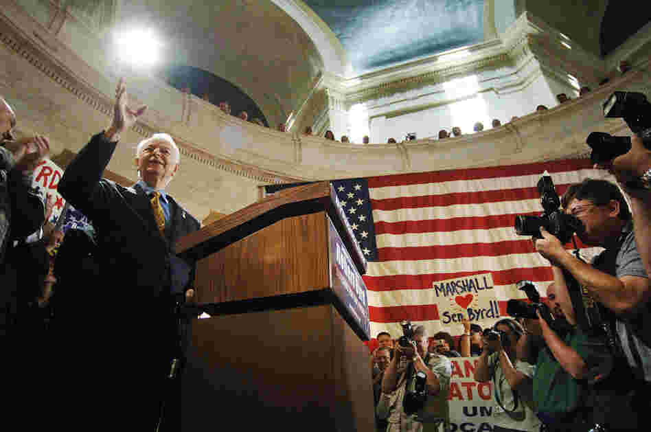 At the West Virginia Capitol in Charleston in September 2005, Byrd announced that he would run for re-election. Byrd's legislative career began in the West Virginia Legislature, where he served terms in both chambers. He also served six years in the U.S. House before becoming a U.S. senator.