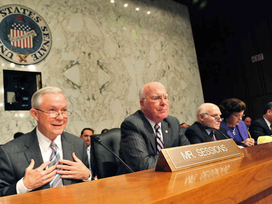 Sen. Jeff Sessions(L),R-AL, questions Su
