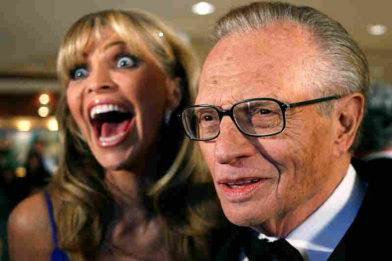 Larry King has been married seven times. All those wives must have gleaned some interviewing expertise from spending so much time with Larry. Now, let them host on a seven-day rotation. — Ben Bergman, Morning Edition