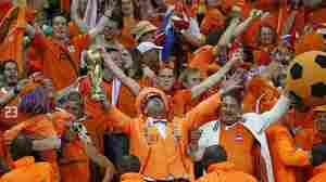 Netherlands' supporters celebrate after