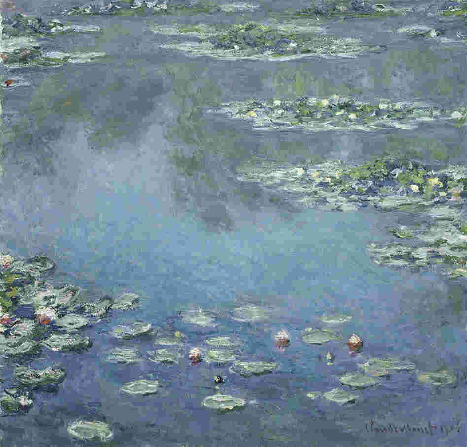 Water Lilies by Claude Monet, 1906. This was one of many in a series of paintings Monet did of the lily ponds surrounding his Giverny home.