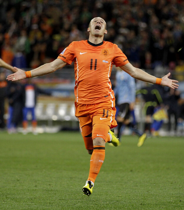 Arjen Robben of the Netherlands.