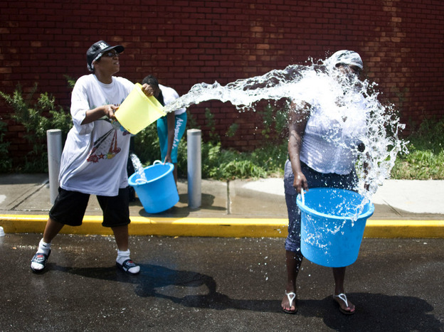 Beating the heat in Brooklyn, New York. (Getty Images North America)