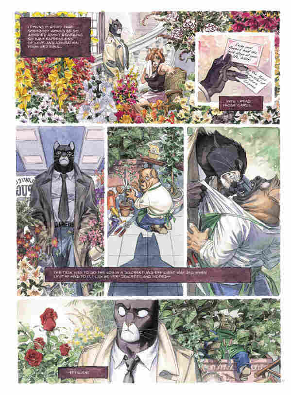 a page from Blacksad