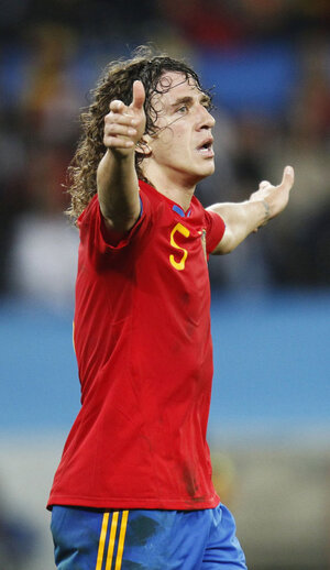 Spain's Puyol during semifinal match