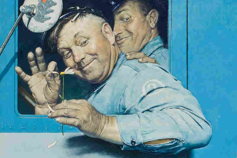 Detail of The Flirts by Norman Rockwell, 1941.