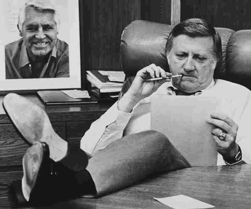 "Steinbrenner works at his desk at Yankee Stadium in New York in 1981. For 30 years, he lived up this nickname, ""the Boss"" — ruling the team with an iron fist and firing several managers."