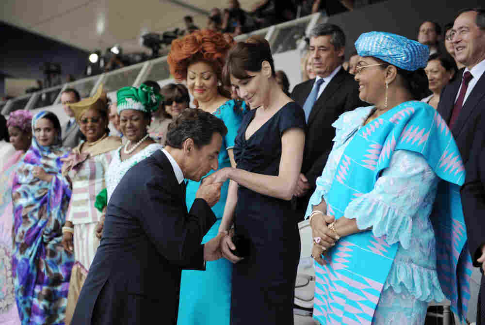 French President Nicolas Sarkozy and first lady Carla Bruni-Sarkozy.
