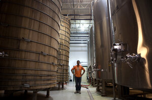 Owner Sam Calagione started Dogfish Head 15 years ago with two 15.5-gallon kegs. Now the brewery has more than a dozen 10,000-gallon tanks.