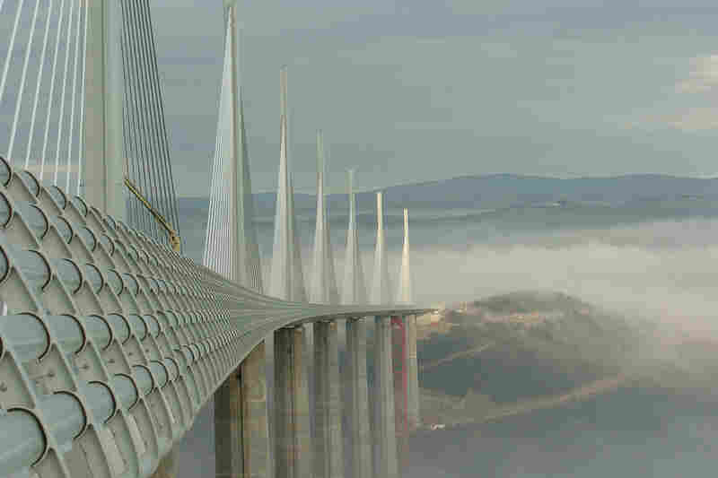 Architect: Sir Norman Foster Structure: Millau Viaduct, FranceYear Completed: 2004