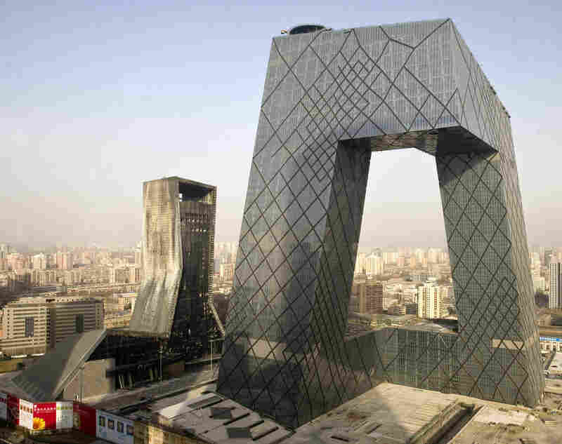 Architect: Rem Koolhaas (Office for Metropolitan Architecture)Structure: CTV Building, Beijing Year Completed: Still under construction