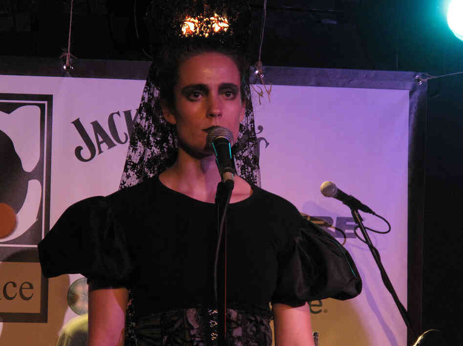 Ariadna, lead singer of the Spanish punk band Los Punsetes, stunned with her immobile presence.