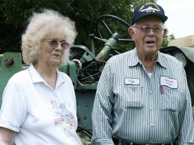 Farmers George and Eloise Spooner