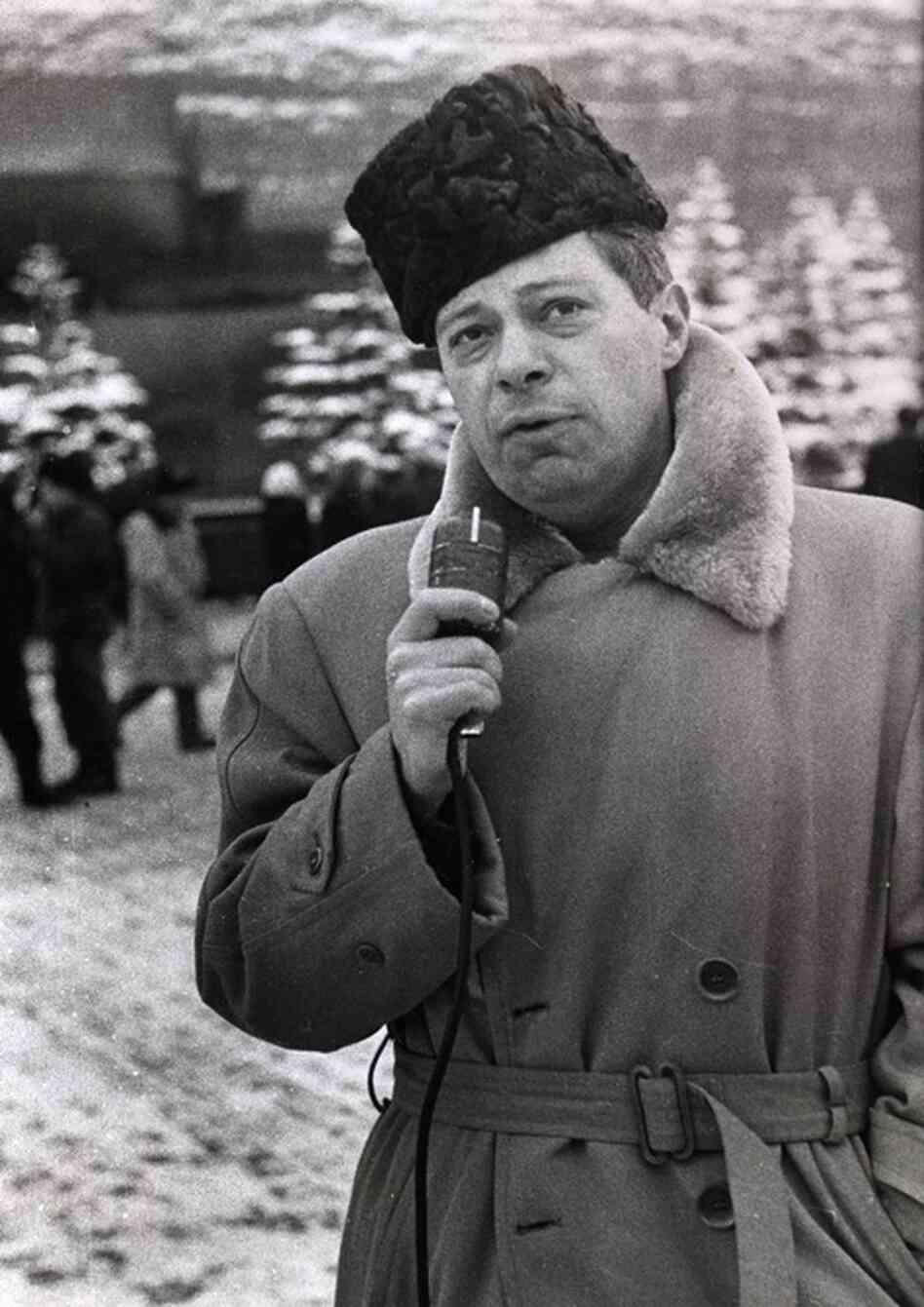 "In 1955, Schorr opened a CBS bureau in Moscow. ""CBS seemed not at all displeased when I was periodically cut off the air ... for defying censorship, and finally excluded from Russia altogether."""