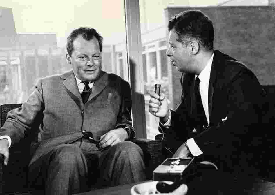 Daniel Schorr interviews the mayor of West Berlin, Willy Brandt, in 1962.