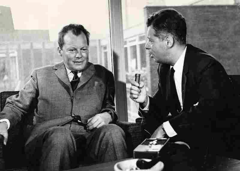 Daniel Schorr interviews the mayor of West Berlin, Willy Brandt, in 1962.