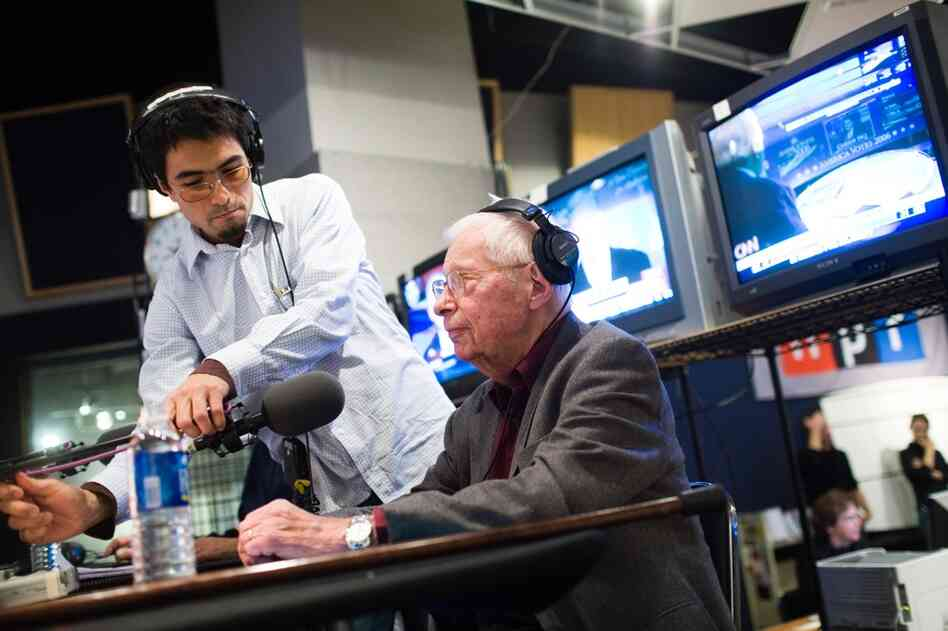 Schorr covers the 2006 U.S. House elections from NPR's Studio 4A on Nov. 7, 2006. Schorr worked primarily as a senior news analyst for NPR after leaving CNN in 1985.