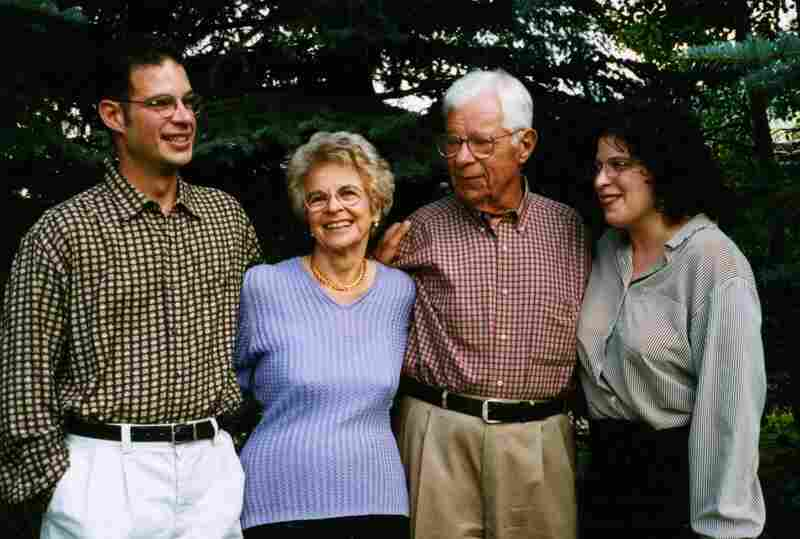 Schorr is seen with his son, Jonathan, wife, Lisbeth, and daughter, Lisa, in this family photo.