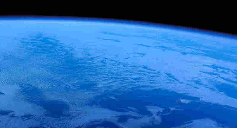 Earth, as seen from SpaceShipOne on October 4, 2004. The view from SpaceShipTwo should be similar.