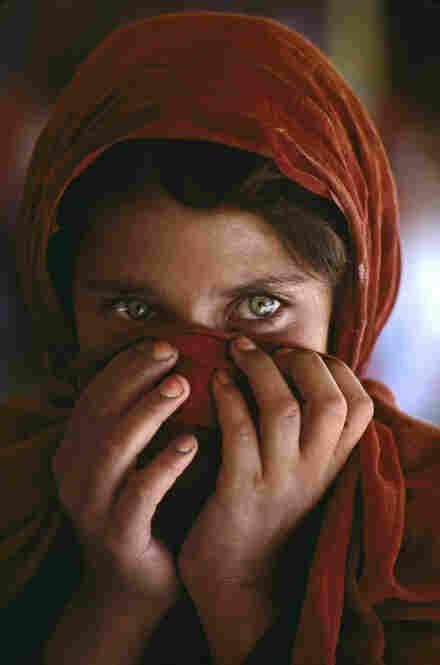 Afghan refugee girl.  Refugee camp near Peshawar, Pakistan, 1984