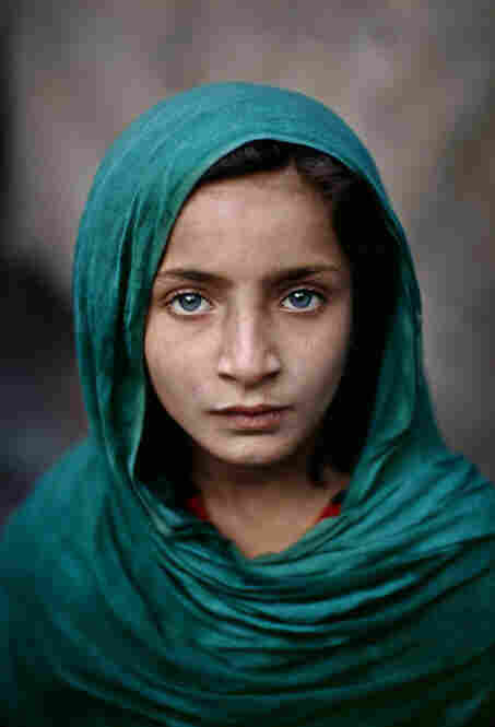 Girl with Green Shawl, Peshawar, Pakistan, 2002