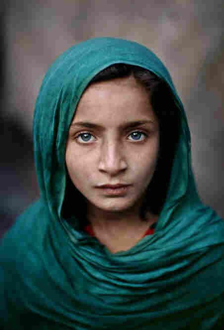 Girl with Green Shawl, Peshawar, Pakistan, 2002