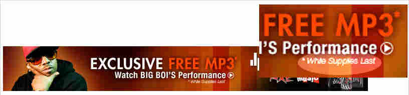 """Advertisement for a """"Free MP3"""""""