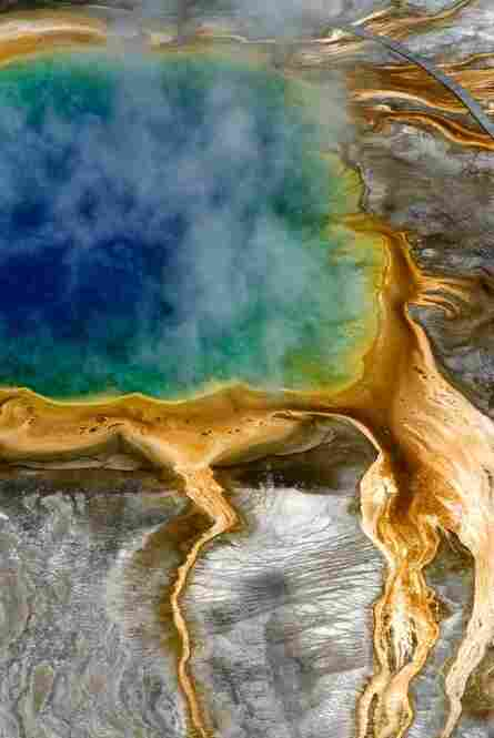 High above Grand Prismatic Spring, Yellowstone National Park