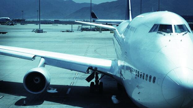 747 on the tarmac