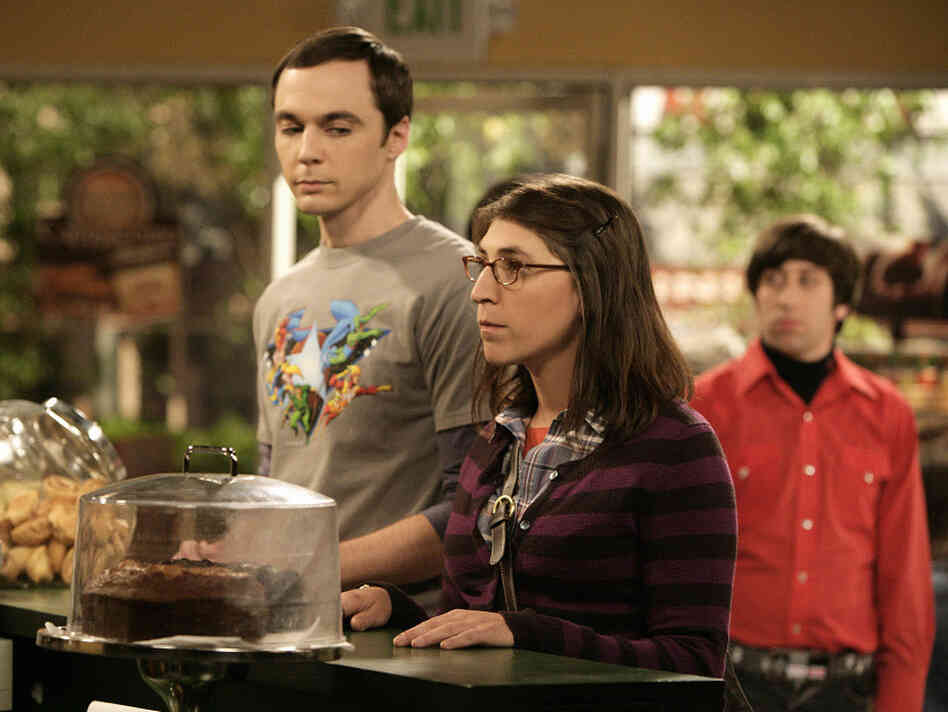 Jim Parsons and Mayim Bialik in The Big Bang Theory