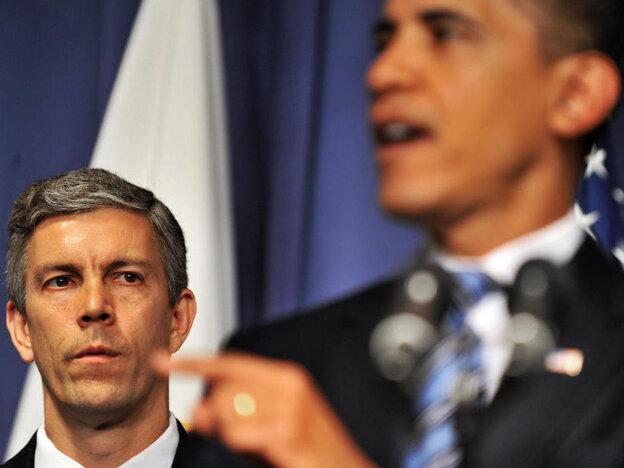US President Barack Obama speaks as US S