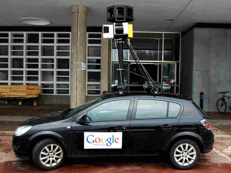 Fake google street view car