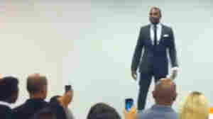 Kanye West Raps At The Facebook Cafeteria
