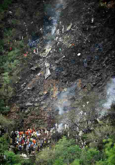 The Airblue Airbus 321 crashed into densely wooded hills amid heavy rain and poor visibility.