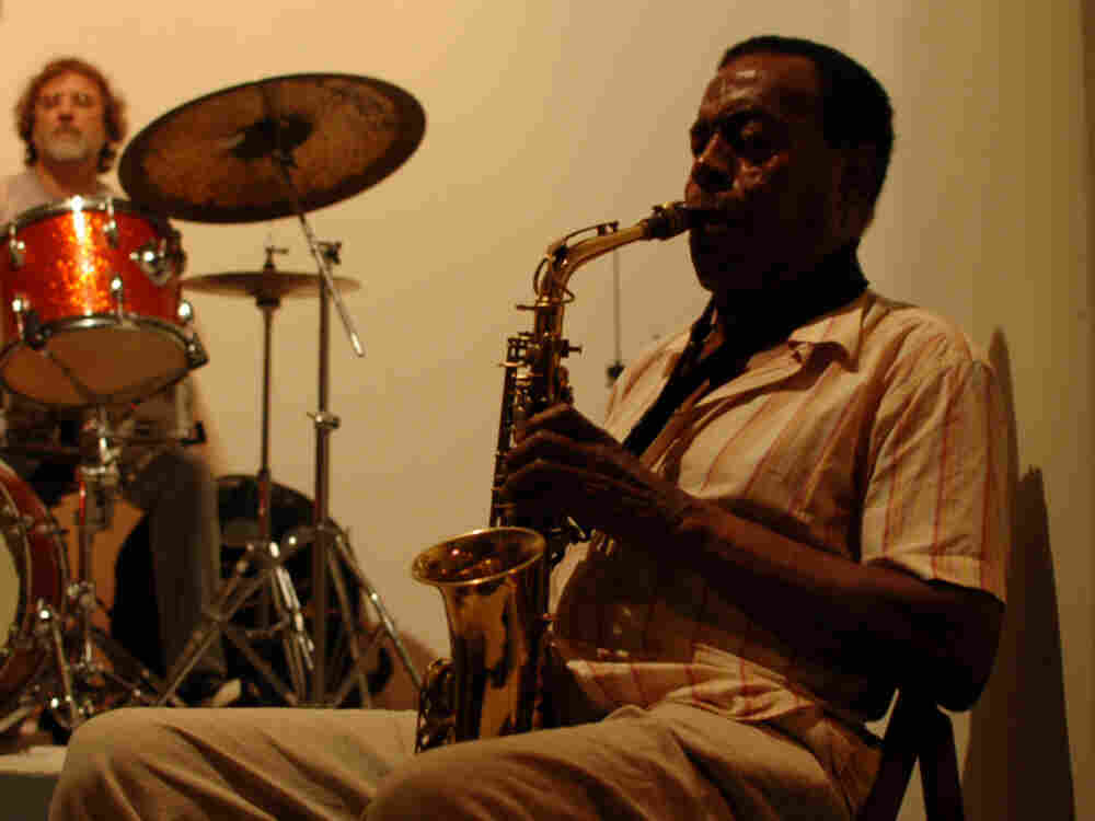 Sonny Simmons performs at the New Atlantis Festival.