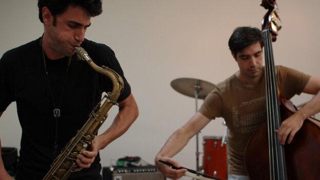 Trio Caveat performs at the New Atlantis Festival.