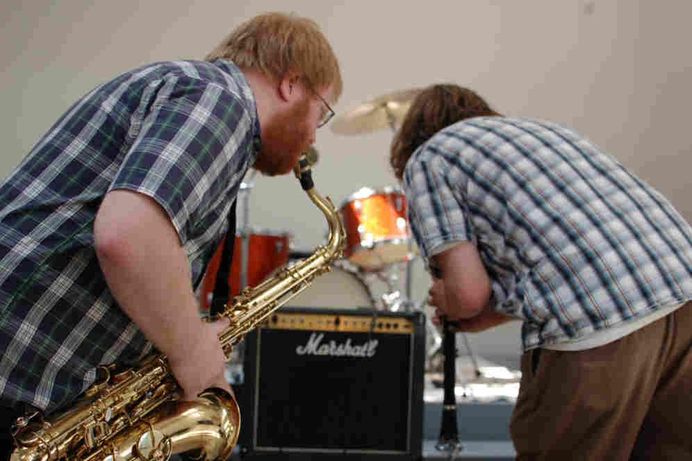 Wasteland Jazz Unit performs at the New Atlantis Festival.
