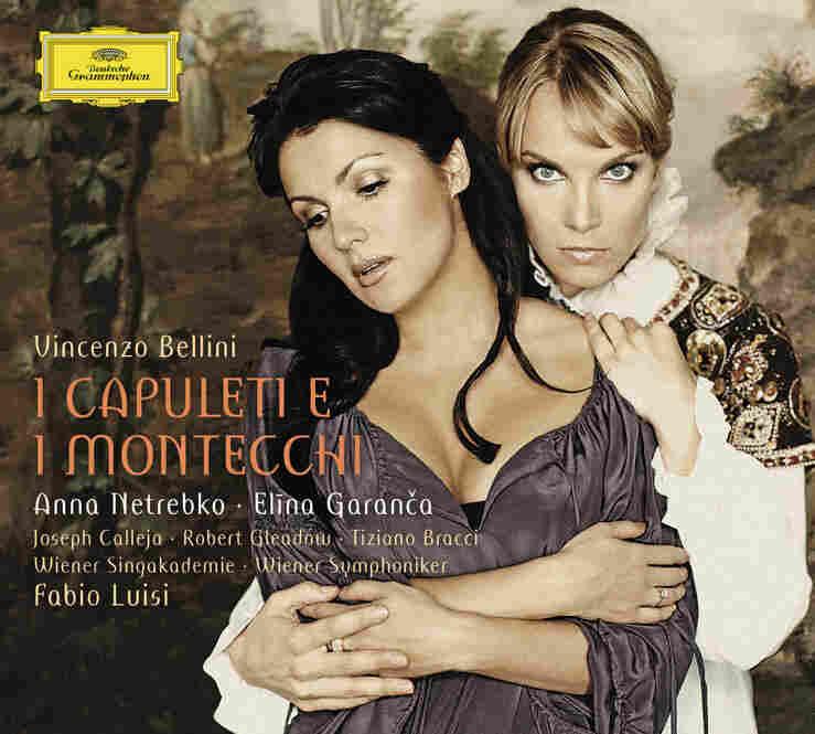 "Soprano Anna Netrebko and mezzo-soprano Elina Garanca sing Bellini's ""I Capuleti e i Montecchi."""