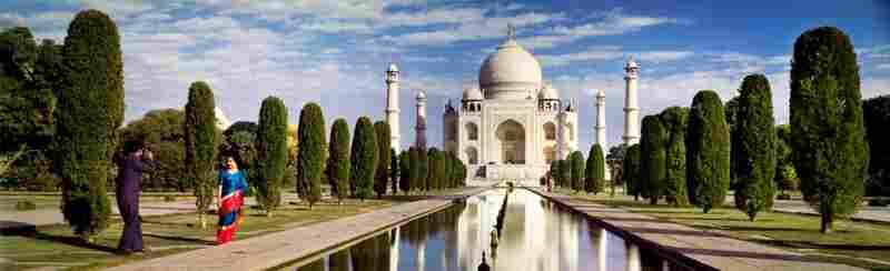 Taj Mahal, Agra, India. Displayed 1964