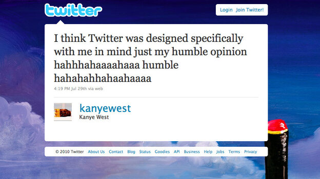 Kanye West's Official Twitter