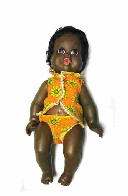 """Baby Nancy"" Doll, 1968, Shindana Toy Co., Division of Operation Bootstrap, Watts, Calif."