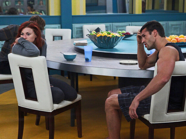 Houseguests Rachel and Brendon from CBS's Big Brother