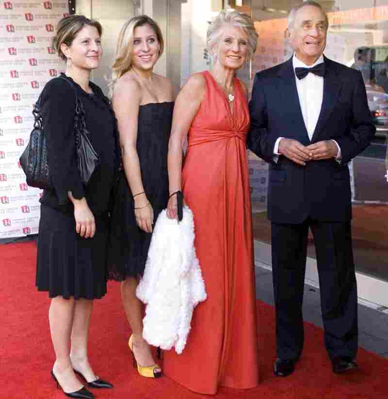 Sidney Harman, Jane Harman, children Justine Harman, Hilary Peck