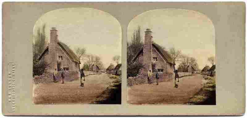 Road Through Our Village. May hunted for these stereoscopic images throughout his worldwide travels with Queen. After years of collecting, he reassmbled the scattered images.