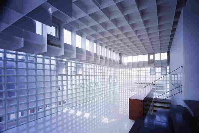 "Interior of ""Crystal Brick."""