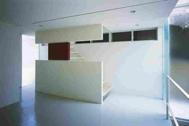 "Interior of ""Penguin House."""