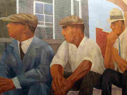 """""""Unemployment"""" by Ben Shahn-- a detail."""