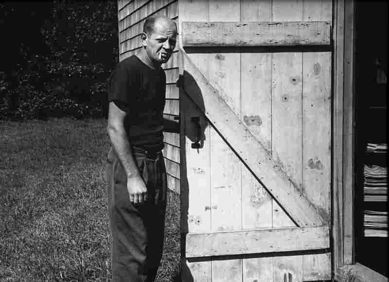 Pollock entering the barn studio