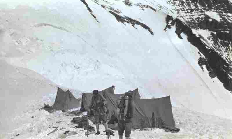 This is the last known photograph of Mallory and Irvine, as they leave for the North Col of Everest, where they disappeared.